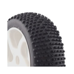 FASTRAX 1/8TH PREMOUNTED BUGGY TYRES H TREAD/10 SPOKE