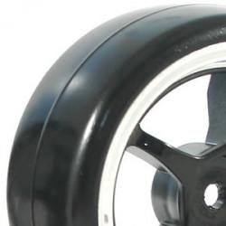 FASTRAX 1/10 STREET/DRIFT 5SP BLACK/CHROME WHEEL and V2 TYRE
