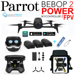 Drone Bebop 2 FPV Power + Sac AC130 + Batterie + Power bank