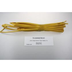 2mm Heat Shrink Tube Yellow 1m