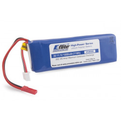 1000mAh 3S 11.1V 20C LiPo 20AWG JST (EFLB0998)