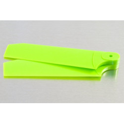 72mm Tail Blades Fits TREX 500 Neon Lime w/4mm Root (4037)