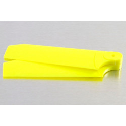 72mm Tail Blades Fits TREX 500 Neon Yellow w/4mm Root (4041)