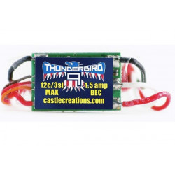CASTLE THUNDERBIRD-9 AIR BRUSHLESS ESC 9A 15V BEC (010-0057-00)