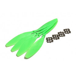 Slow Fly Electric Propellers 11x4.7R SF Right Hand Rotation Green (4pcs)
