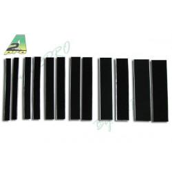 Velcro autocollant noir 25mm x 20cm (8820)