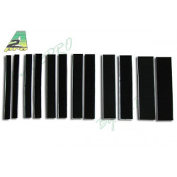 Velcro autocollant noir 50mm x 20cm (8821)