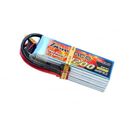 Gens ace 1200mAh 22.2V 40C 6S1P Lipo Battery Pack (B-40C-1200-6S1P)