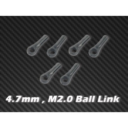 Ball Link x 6 4.7mm, M2.0 for HPTB011, HPTB012, HPTB013, HPAT50004, AT55003