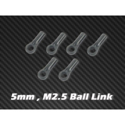 Ball Link x 6 5mm, M2.5 for HPTB004, HPTB004-V2, HPTB005, HPTB008