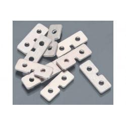 Servo mounting plates 10 pcs - plaquettes de fixations de servos (PV0054)