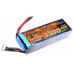 Gens ace 3300mAh 14.8V 25C 4S1P Lipo Battery Pack (B-25C-3300-4S1P)