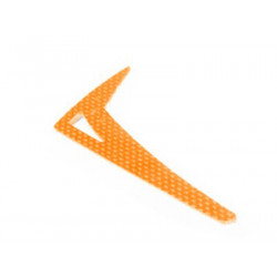 Lynx Upgrade Vertical Fin T-REX450 PRO, SPORT, BLADE 450X - G10 Orange (LX0183)