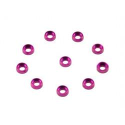Metal Finish cap for 2.5mm Screw (10pcs) (Purple) (HA014P-25)