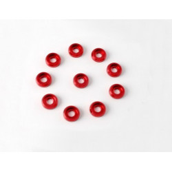 Metal Finish cap for 3mm Screw (10pcs) for all 30-90 helis (Red) (HA014R)