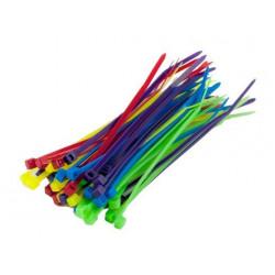 Cable binder (six different colors ) (40pcs) 2.5x100mm NEW (HA0709)