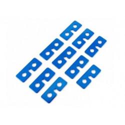 Metal Servo Plate (blue) 10pcs (RJX19)