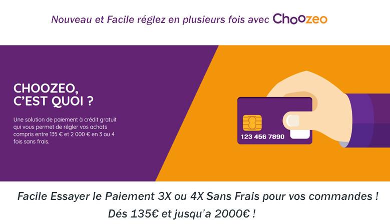 Choozeo Paiement en Plusieurs fois a partir de 135€ jusqu'a 2000€