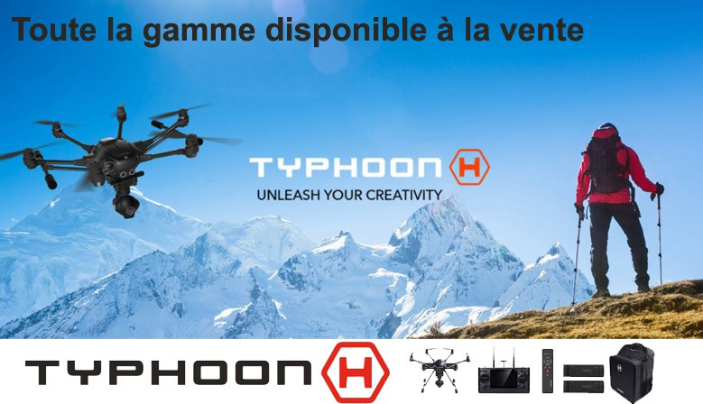 Yuneec gamme complete typhoon H