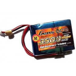 Gens ace 3500mAh 7.4V RX 2S1P Lipo Battery Pack (B-RX-3500-2S1P)