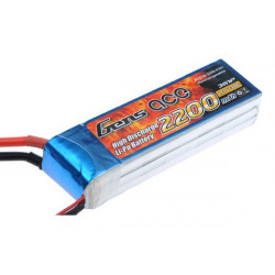 Gens ace 2200mAh 11.1V 30C 3S1P Lipo Battery Pack (B-30C-2200-3S1P)