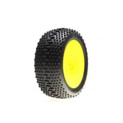 Mini 8IGHT - pneus arriere king pin montés sur jantes (LOSB1890)