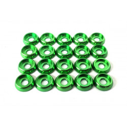 Frame C Washer M3 - Green - 20pcs (LX0250)