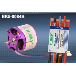 Brushless motor (Back push) 45g 1000KV + speed controller25A for 3D airplane (old EK5-0084B)