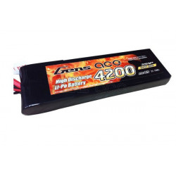 Gens ace 4200mAh 7.4V 25C 2S1P Lipo with Original TRX Connector (B-25C-4200-2S1P-TRX-L)