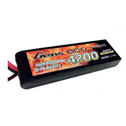 Gens ace 4200mAh 7.4V 25C 2S1P Lipo with Original TRX Connector (B-25C-4200-2S1P-TRX-S)