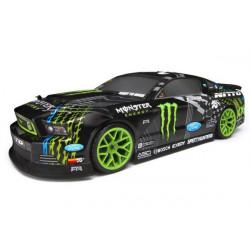 E10 Drift Vaughn Gittin Jr. Monster Energy Nitto Tire Ford Mustang RTR Black (HPI 111664)