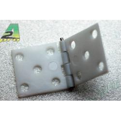 Charnière assemblée 34x16mm (10 pcs) (6390)