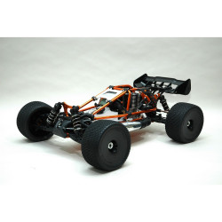 HOBAO HYPER CAGE TRUGGY ORANGE NITRO RTR MAC28 6-PORT SAVOX 2.4ghz (HBCT-S28RG)