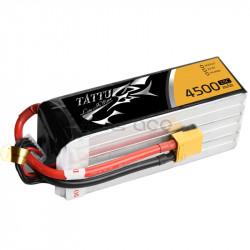 TATTU 4500mAh 22.2V 25C 6S1P Lipo Battery Pack ( Gensace TA-25C-4500-6S1P)