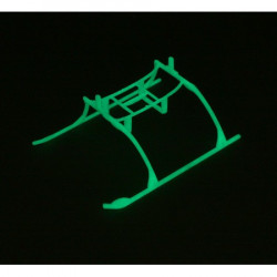 Landing Skid and Battery Mount Set, Glow in the dark: BCMX (EFLH2222GL)
