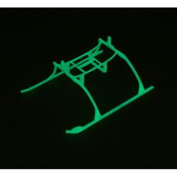 Landing Skid and Battery Mount Set, Glow in the dark: BCMX (EFLH2222GL)