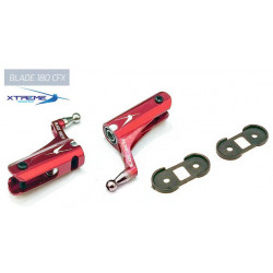 180CFX Support de Pale CNC Alu. Main Blade Grip  (Red)