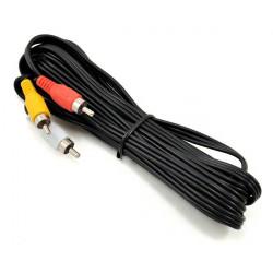 Fat Shark Câble AV RCA vers prise 4 broches longueur 3m (FSV1405)
