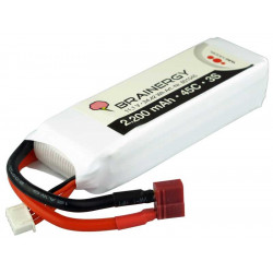 Batterie LiPo 3s1p 11,1V 2.200mAh 45C BRAINERGY compatible avec Deans T-Plug (801045)