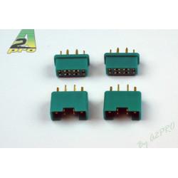 Connecteur 6 pôles mâle+fem 2 paire (14140)