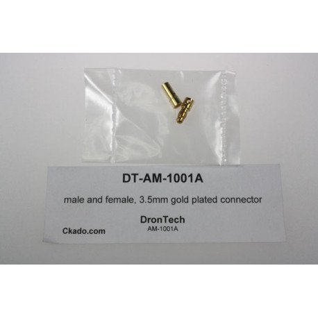 male and female, 3.5mm gold plated connector