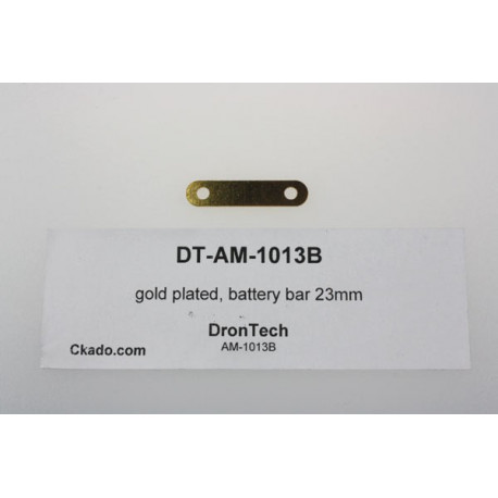 gold plated, battery bar 23mm
