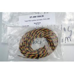 Twist Wire (yellow red black, PVC) 26