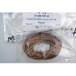 Straight Wire (orange red brown, PVC) 26