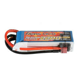 Gens ace 2200mAh 11.1V 45C 3S1P Lipo Battery Pack (B-45C-2200-3S1P)