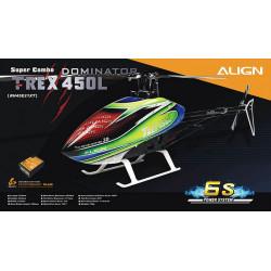 Hélicoptère T-REX 450L Dominator Super Combo 6S MicroBeast Plus (RH45E21XT)