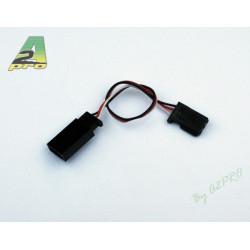 Rallonge servo 10cm Futaba - câble 0,10mm² (5 pièces) (9059-0)