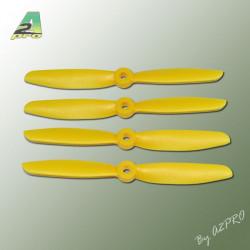 Hélice PTK (2 paires CW+ CCW) 5x4.5 jaune (PJ5045)
