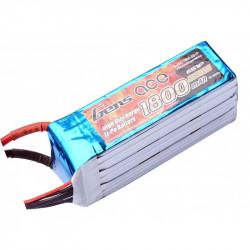 Gens ace 1800mAh 22.2V 45C 6S1P Lipo Batterie Pack Goblin 380 (B-45C-1800-6S1P)