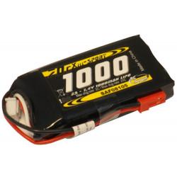 Batterie LiPo Xell Sport 2S 7.4V - 1000mAh 25C - prise BEC (SAF08105)